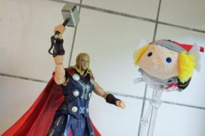 SH Figuarts and Tsum Tsum Thor by ChristianPrime1-Bot