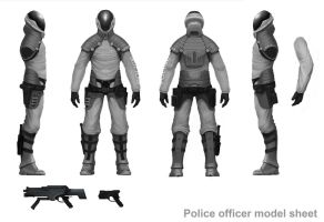 Police -MODEL SHEET- by Asahisuperdry
