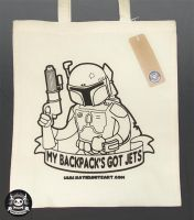 My Backpack's Got Jets - Boba Fett Tote by pai-thagoras