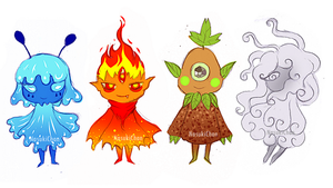 Elemental Aliens - Characters design by Nasuki100