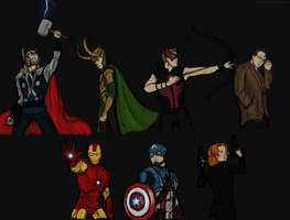 the Avengers by GoreChick