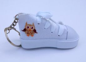 Tiny Owl Small Shoe Keychain by Ceil
