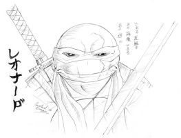 Leo Face Study by Ninja-Turtles