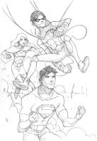 Young Justice Scketch by UltimateRubberFool