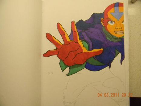 WIP Abstract Aang by Bioluminescent-one