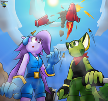 Freedom Planet- Someone Needs Help [Contest Pic] by GamefreakDX