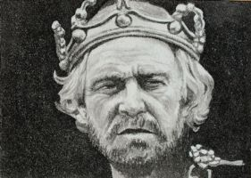 Richard Harris as King Lear by waughtercolors