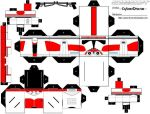 Cubee-Clone Trooper2 'Red' by CyberDrone