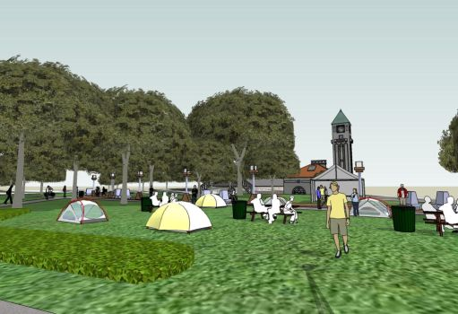 ArtScape 2012 Tent Project - from Preston by mdmodeler