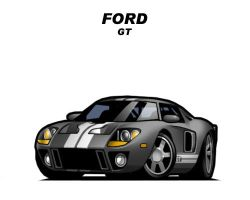 Chibi Ford GT by CGVickers