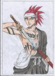 Renji Abarai from Bleach by tonier