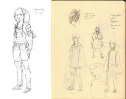 MENTOR PROJECT: Little Red prelim clothing sketch by Springs