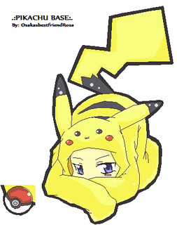 Pikachu Base by osakasbestfriendRosa