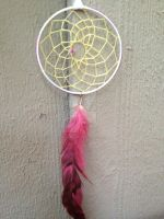 Pink Feather Dream Catcher by Craft-Me-A-Dream