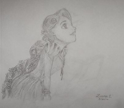 Rapunzel Sketch by levanacats