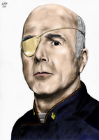 Colonel Tigh - Colour by The-13th-Doctor
