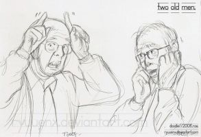 two old men. by ryuuenx