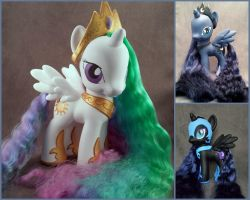 MLP: FiM customs - G4zilla princesses by hannaliten