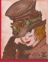 SteampunkLady-Lineart BLUEHAWK55-colour-ME by HoshiBlue21