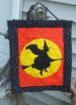 Halloween Witch and Moon quilted Wall Hanging by alrach