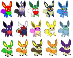 Eevee Splice Adoptables 4 CLOSED by Aven-Mochi