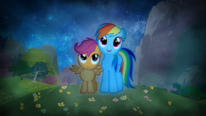 Rainbow and Scootaloo by AeliosZero