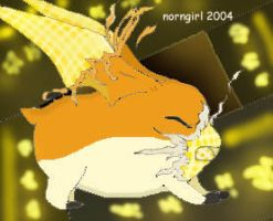 Patamon digivolves by norngirl