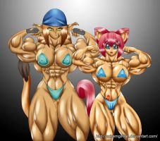 Sister Bodybuilders by Siegfried129