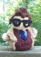 10th Doctor Who Crochet Doll by flutefaerie