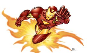 Iron Man colored by seanforney