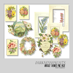 Vintage Flowers PNG Pack by DarknessOnly13