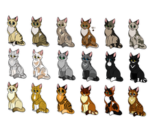 Cats that are adopts 4  (7 SLOTS LEFT) by MlSTY