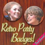 Retro Party Badges by sarkastik