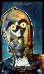 C3po Starwars Inspired Poster by le0arts
