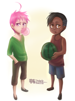 MK-When they were kids by aulauly7