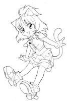 unfinished chibi catgirl by nekoshiei