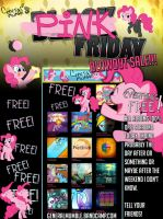 PINK FRIDAY BLOWOUT SALE POSTER by Poowis