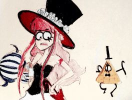 Quick Colored sketch Perona- gravity falls style! by Flutterflute