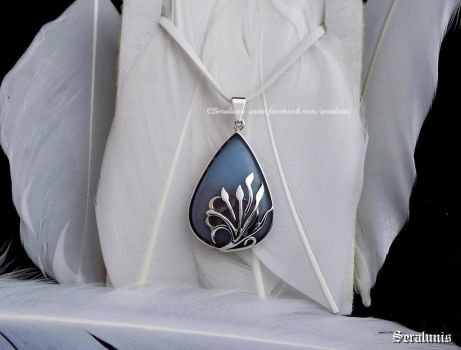 'Sea of Dreams', handmade sterling silver pendant by seralune