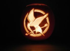 Mockingjay Pumpkin by mikedaws
