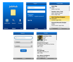 Job Hub mobile UI by DPencilPusher
