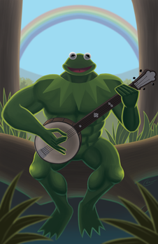 A Very Manly Muppet by wizardofkitty