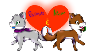 Pashie and Mimi by MimiTheFox