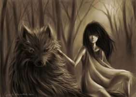 Wolf girl. by Ceremiki
