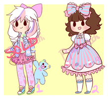 Sweet Lolita and Fairy Kei Adoptables [SOLD] by Pyonkotcchi