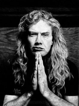 Dave Mustaine by Red-Szajn