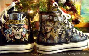 "hand painted ""Guns n Roses"" by alcat2021"