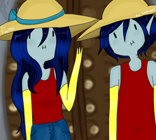 Comision: Marceline y Marshall Lee by MrsUst