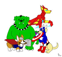 Avenger Dogs by ToonSkribblez