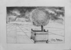 05 architectural Drawing - Exercise vanishing poin by Oscarliima
